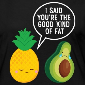 Cute Pineapple & Avocado | You're The Good Fat... Skjorter med lange armer - Premium langermet T-skjorte for kvinner