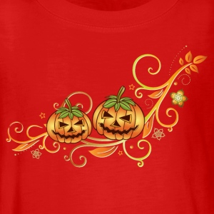 Halloween ornament with leaves and pumpkins. - Teenagers' Premium Longsleeve Shirt