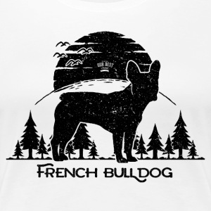 French Bulldog Forest T-Shirts - Frauen Premium T-Shirt
