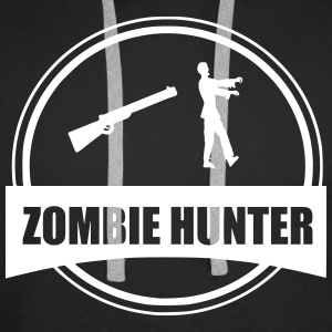 Zombie hunter  Sweat-shirts - Sweat-shirt à capuche Premium pour hommes