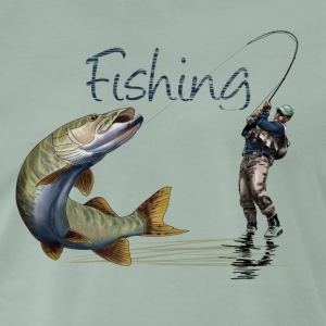 Fishing T-shirts - Herre premium T-shirt