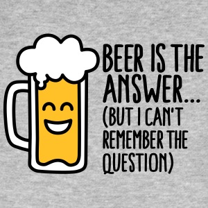 Beer is the answer but I can't remember the... T-shirts - Organic mænd