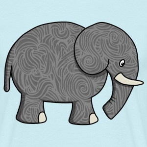 Elephant Pattern - Men's T-Shirt