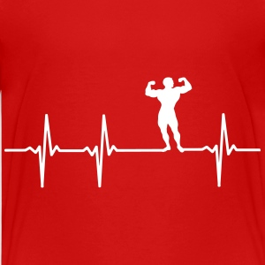 Bodybuilder pulse T-Shirts - Teenage Premium T-Shirt