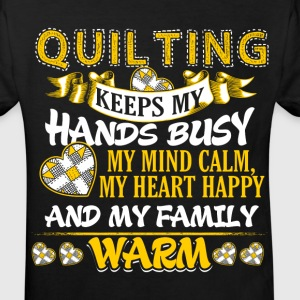 Keeps My Hands Busy - Quilting Shirts - Kids' Organic T-shirt