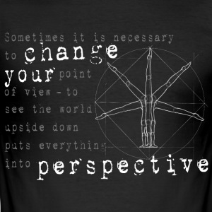 Handstand Philosophie T-Shirts - Männer Slim Fit T-Shirt