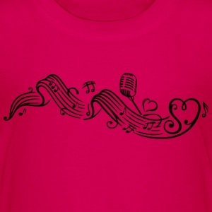Music sheet with music notes and clef - Teenage Premium T-Shirt