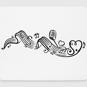 Music sheet with music notes and clef - Mouse Pad (horizontal)