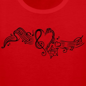 Music sheet with music notes and clef - Men's Premium Tank Top