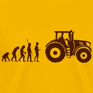 evolution traktor T-shirts - Herre premium T-shirt