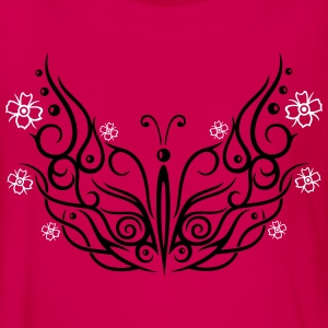 Big butterfly with cherry blossoms - Teenagers' Premium Longsleeve Shirt