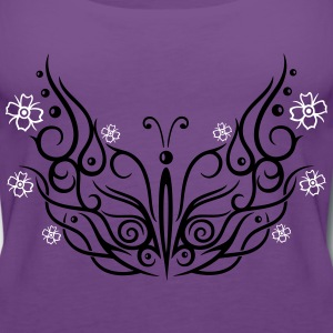Big butterfly with cherry blossoms - Women's Premium Tank Top
