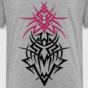 Fantasy dragon, tribal and tattoo style  - Kids' Premium T-Shirt