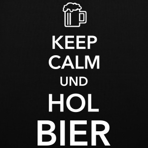 Keep calm und hol Bier Bierkasten Grillparty Wiesn - Stoffbeutel