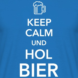 Keep calm und hol Bier Bierkasten Grillparty Wiesn - Männer T-Shirt