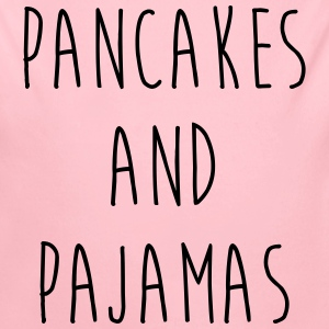 Pancakes And Pajamas Funny Quote Babybody - Økologisk langermet baby-body