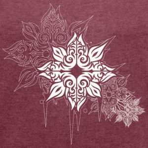 star flower T-Shirts - Women's T-shirt with rolled up sleeves