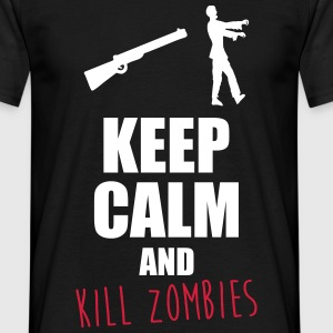 Keep calm zombie,zombies,humour,citations - T-shirt Homme