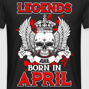 April - legende - verjaardag - nl T-shirts - Mannen Urban longshirt