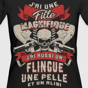 Father - daughter - weapon - scoop - alibi - FR T-Shirts - Women's Organic T-shirt
