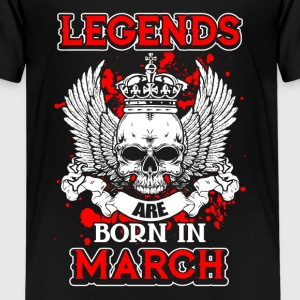 March - legend - birthday - EN Shirts - Teenage Premium T-Shirt