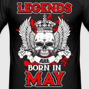 May - legend - birthday - EN T-Shirts - Men's Slim Fit T-Shirt
