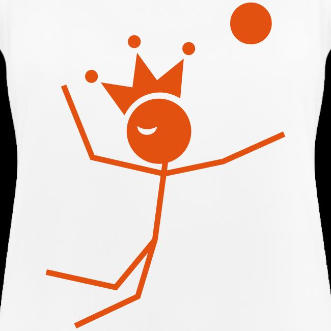 Volleybalkoningin tanktop ademend