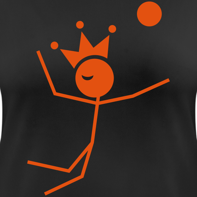 Volleybalkoningin T-shirt ademend