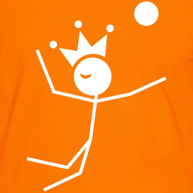 Volleybalkoning Contrastshirt