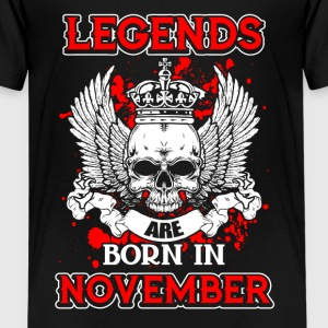 November - legend - birthday - EN Shirts - Teenage Premium T-Shirt