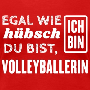 Volleyballerin T-Shirts - Frauen Premium T-Shirt