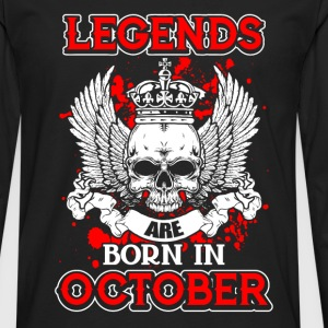 October - legend - birthday - EN Long sleeve shirts - Men's Premium Longsleeve Shirt
