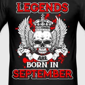 September - Legende - Geburtstag - EN T-Shirts - Männer Slim Fit T-Shirt