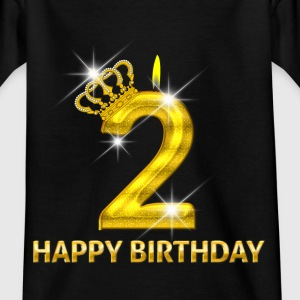 2-happy birthday - birthday - number gold Shirts - Kids' T-Shirt