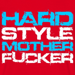 Rood Hardstyle Motherfucker (For Dark Shirts) T-shirts - Mannen T-shirt