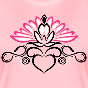 Lotus flower with infinity and snakes  - Women's Premium T-Shirt