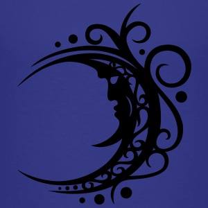 Large moon with Tribal ornament. - Teenage Premium T-Shirt