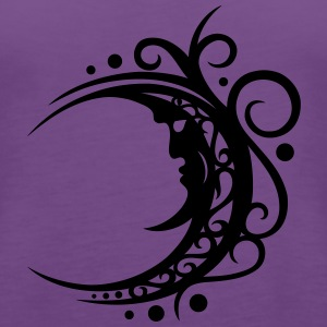 Large moon with Tribal ornament. - Women's Premium Tank Top