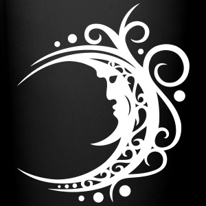 Large moon with Tribal ornament. - Full Colour Mug