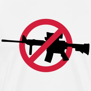No guns no war T-shirts - Herre premium T-shirt