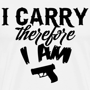 I carry therefore I am T-shirts - Mannen Premium T-shirt