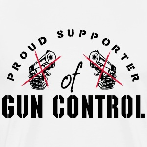proud supporter of gun control T-shirts - Herre premium T-shirt