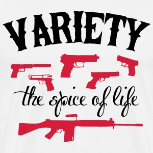 guns: variety the spice of life T-skjorter - Premium T-skjorte for menn
