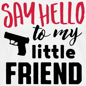 say hello to my little friend T-skjorter - Premium T-skjorte for menn