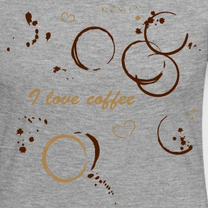 I love coffee. Coffee stains and hearts. - Women's Premium Longsleeve Shirt