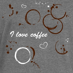 I love coffee. Coffee stains and hearts. - Women's Boat Neck Long Sleeve Top
