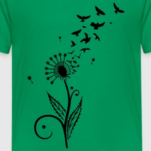 Dandelion with flying birds. - Teenage Premium T-Shirt