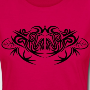 Big frog and leaves, tribal and tattoo design. - Women's Premium Longsleeve Shirt