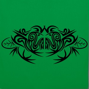 Big frog and leaves, tribal and tattoo design. - Tote Bag