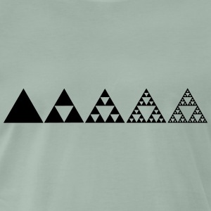 Sierpinski triangle, fractal, mathematics geometry - Men's Premium T-Shirt